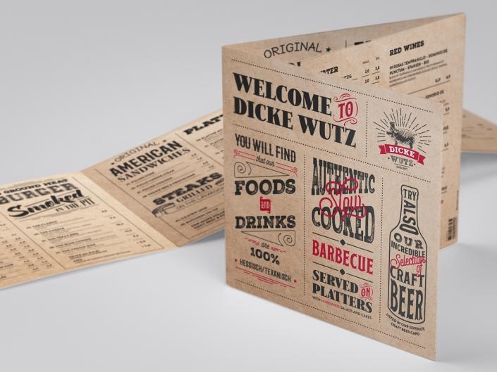 Entwicklung einer Speisekarte für das Restaurant Dicke Wutz