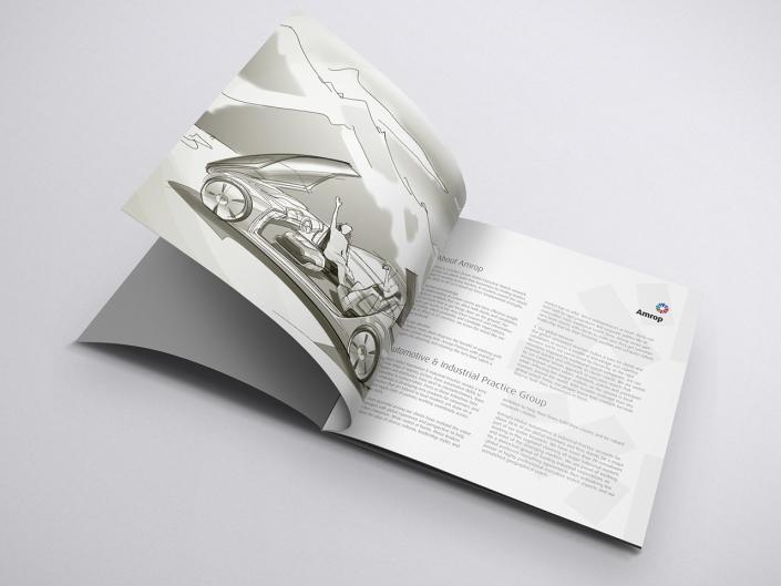 Gestaltung und Druck einer Broschüre für Amrop