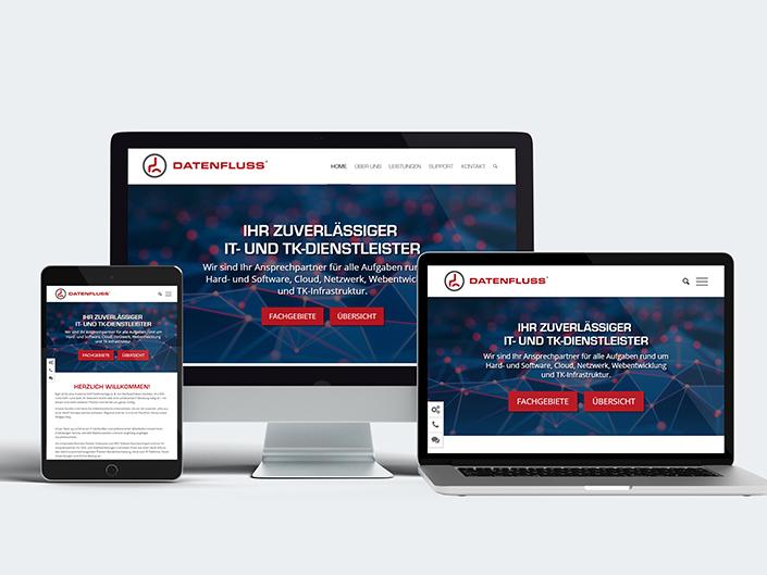 Entwicklung einer neuen Website für Datenfluss IT Services